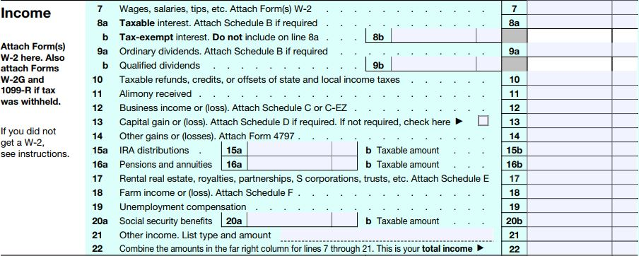 Virginia Beach Tax Preparation Form 1040 Income