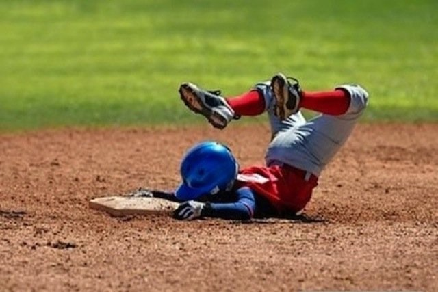 Virginia beach tax preparation baseball faceplant