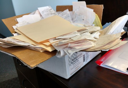 virginia beach tax preparation box of receipts